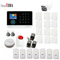 SmartYIBA Smart Home Residential Alarm Wireless Wifi 3G Security Alarm System with Outdoor IP Camera APP Control Motion Detector