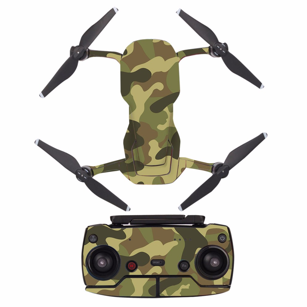 Brown Camouflage Waterproof PVC Decal Skin Sticker For DJI MAVIC Air Drone Body Protection Film +remote Controllers Cover