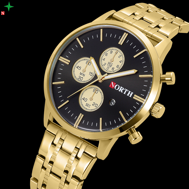 цены  Men Watches Top Brand Luxury Waterproof Stainless Steel Clock Male Wach Casual Quartz-Watch Box Business Watch Men Reloj Hombre