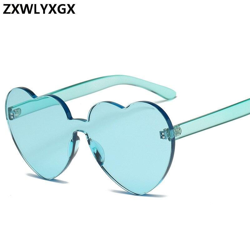 New Fashion cute sexy retro Love Heart Rimless Sunglasses Women Luxury Brand Designer Sun glasses Eyewear Candy Color UV400 in Women 39 s Sunglasses from Apparel Accessories