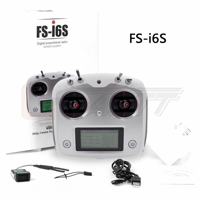 Flysky FS-i6S 2.4G 10CH AFHDS Transmitter With FS-iA6B Receiver Remote Control For Eachine Racer 250 Quadcopter Airplane flysky fs i6s 2 4g 6ch afhds transmitter with fs ia6b receiver