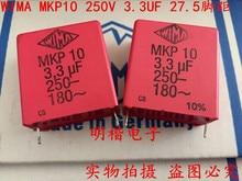 2020 Hot Koop 10Pcs/20Pcs Duitsland Wima MKP10 250V 3.3Uf 250V 335 3U3 P: 27.5Mm Audio Condensator Gratis Verzending