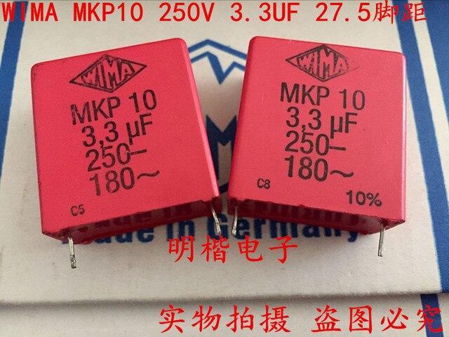 2020 hot sale 10pcs/20pcs Germany WIMA MKP10 250V 3.3UF 250V 335 3U3 P: 27.5mm Audio capacitor free shipping