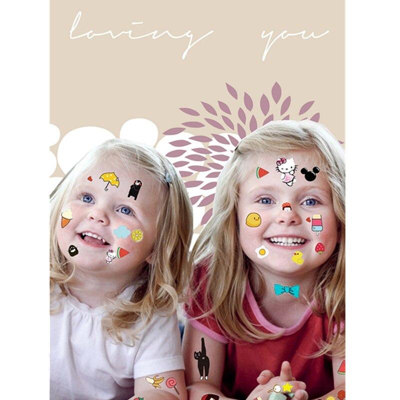 Купить с кэшбэком Krasivyy children temporary tattoos stickers cartoon animals  butterfly colorful tattoos flash tattoo paste makeup girls tattoo