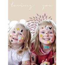 Krasivyy 어린이 임시 문신 스티커 만화 동물 나비 다채로운 문신 플래시 문신 붙여 화장 소녀 문신
