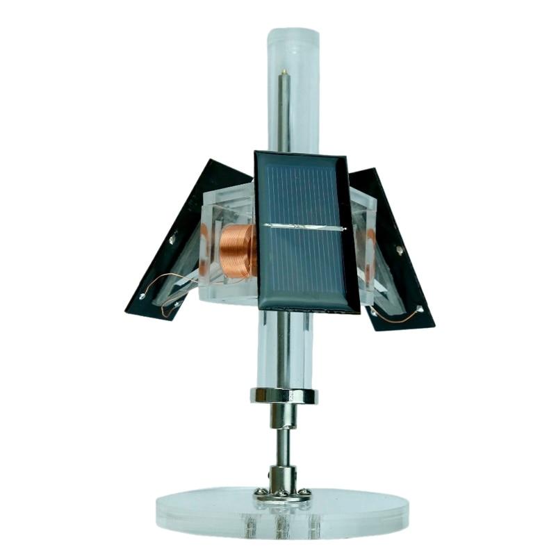 Magnetic Levitation Solar Motor Three-Sided Vertical Brushless Motor Diy Teaching Model / Scientific Experiment