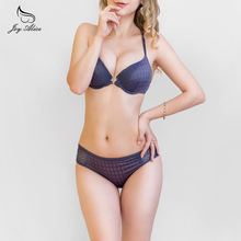 2017 Popular Fashion Bra Set 3-breasted Glossy Lace Bra  Underwear Women Bra and Panties Set  lingerie