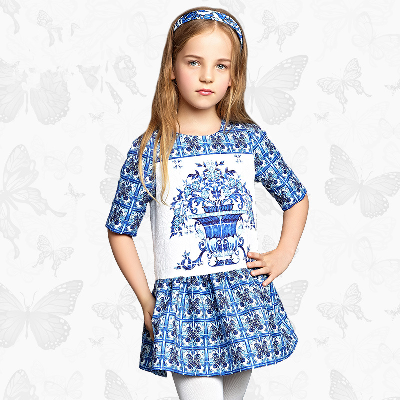 Toddler Girls Dresses Children Clothing 2017 Brand Princess Dress for Girls Clothes Fish Print Kids Beading Dress FANAIDENG 25 toddler girls dresses children clothing 2017 brand princess dress for girls clothes fish print kids beading dress fanaideng 50
