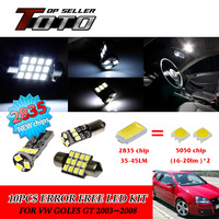 11x LED Car Auto Interior Canbus Dome Map Reading Light White 2835 Chips Kit For VW