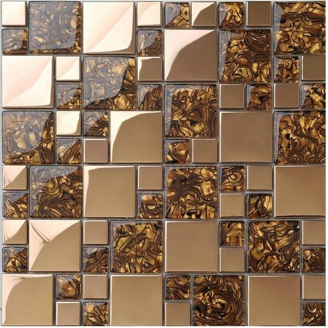 Best seller oro rosa de acero inoxidable cocina backsplash azulejos ...