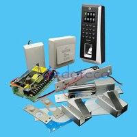 Полный F20 отпечатков пальцев доступа Управление комплект системы двойные стеклянные двери доступа Управление комплект + Питание + Электрич