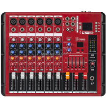 MiCWL 6 Channel Karaoke Studio Stage Mixing Console Sound Bluetooth Mixer ( USB 48V Monitor Recording 16DSP ) SMR600-USB