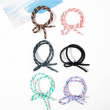 Three Color Spiral Elastic Hair Bands Ponytail Holders Green Purple Pink Holders Headwear Hair Accessories for Women(China)