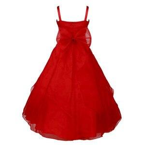 Image 3 - 子供ガールズノースリーブオーガンザのチュチュプリンセスフラワーガールドレス夏の結婚式誕生日パーティーロングドレス初聖体ドレス