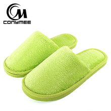 Winter Shoes Woman Home Slippers 2018 Candy Color Women Furry Slipper Pantufas Indoor Warm Cotton Shoe Terlik Plush Slippers