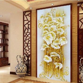 Blume lilie baumwolle seidenfaden dmc kreuzstich kits 100% gedruckt stickerei diy handarbeit handarbeiten wandhauptdekor eingang