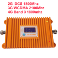 2G DCS repeater & 3G WCDMA & 4G booster Band 3 band 9 FDD LTE 4G booster 22dbm 65dbi LCD display FDD booster repeater 4G booster