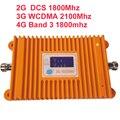DCS repetidor de 2G & 3G WCDMA & 4G impulsionador Banda 3 banda 9 FDD FDD LTE 4G 22dbm reforço 65dbi display LCD impulsionador repetidor 4G impulsionador