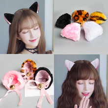 20 pcs a lot Kids/adult cat/leopard ears hair pin 3D costume birthday party headband for children & adult with/without bell bow