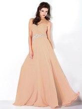 2015 neue Schatz Voller Länge Chiffon-Abendkleid Kleid Mit Schärpe Kostenloser Versand Backless Abend-formale Kleid Sleeveless F1857