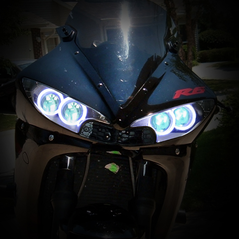 Kt Complete Headlight For Yamaha Yzf R6 2003 2004 2005 Led Angel Eye Wiring Diagram Blue Demon Motorcycle Hid Projector Assembly On Alibaba Group