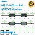 Original HIWIN Guía Lineal 2 unids HGR25-L 600mm rail con 4 unids HGH25CA HIWIN Carro Lineal
