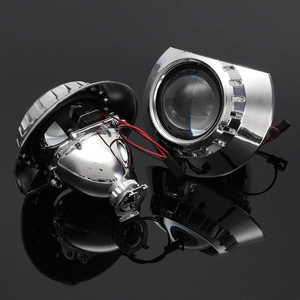 1 paire 2.5 pouces bi-xénon HID H1 phare projecteur lentille faisceau de modification pour BMW E46 M8617