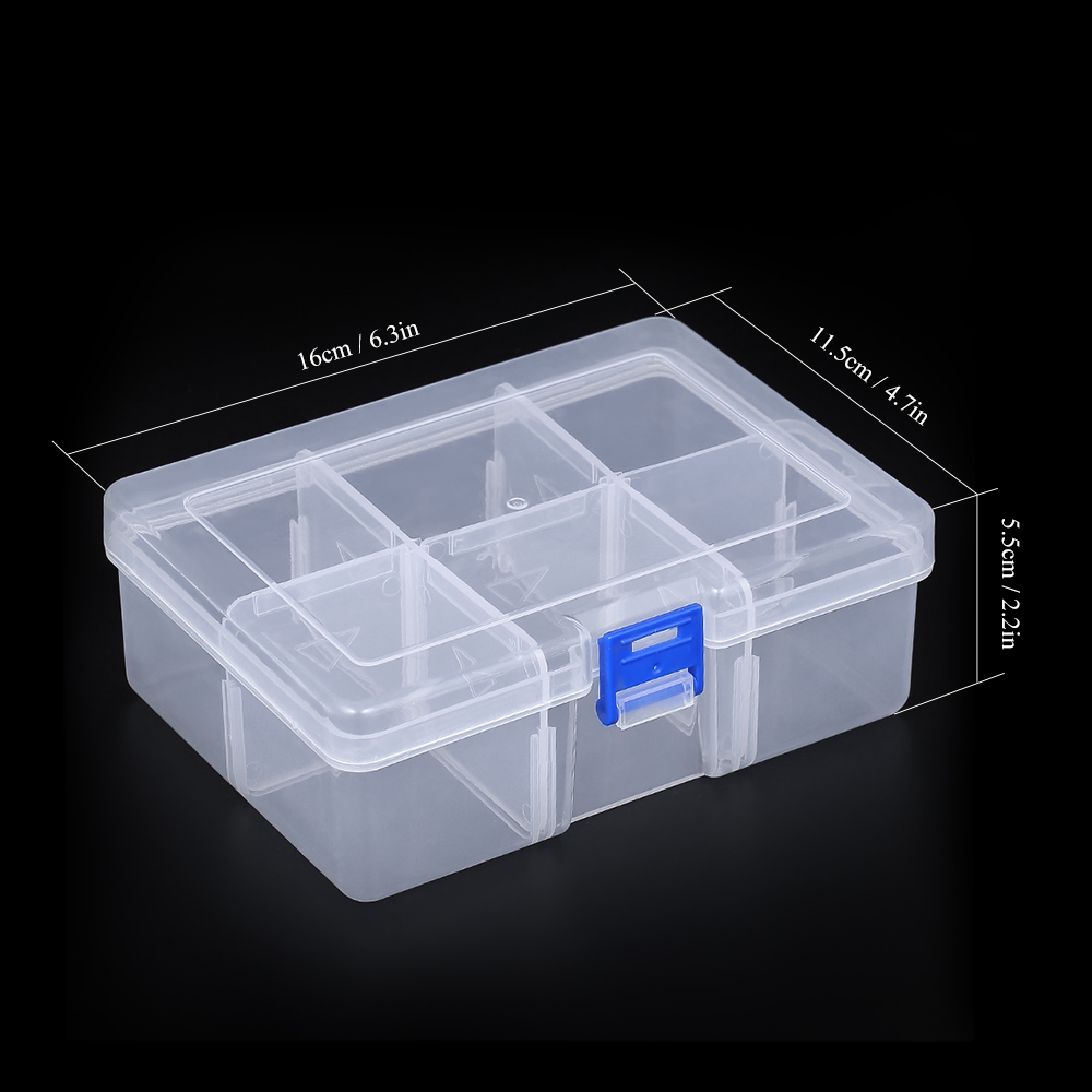 8 Compartments Fishing Utility Box Lures Swivels Hooks Tackle Box with Adjsutable Dividers Walmeck