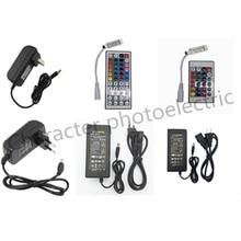 цена на 1X 24key / 44 key RGB IR Remote Controller DC 12V 3A/5A Power supply Adapter Transformer For 2835 3528 5050 SMD LED Strip Light