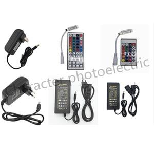 1X 24key / 44 key RGB IR Remote Controller DC 12V 3A/5A Power supply Adapter Transformer For 2835 3528 5050 SMD LED Strip Light