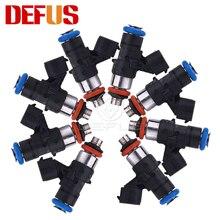 DEFUS 8 шт. 0280158821 топливный инжектор для бензинового метанола 210lb 1300cc сопло с высоким сопротивлением впрыскивание модифицированных автомобиле...