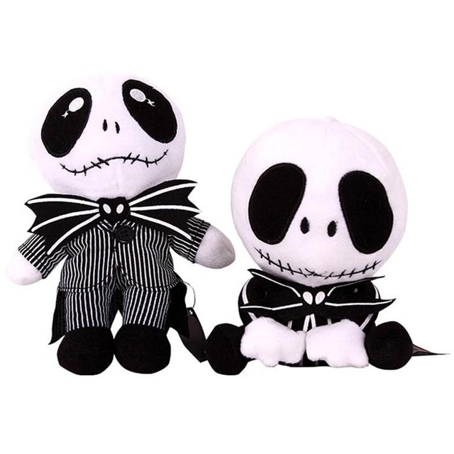 the nightmare before christmas jack skellington plush doll toy halloween toys high quality - Christmas Jack Skellington