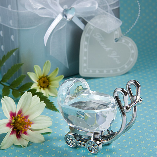 20pcs Free Shipping Baptism Baby Favor Boy Girl Carriage Crystal