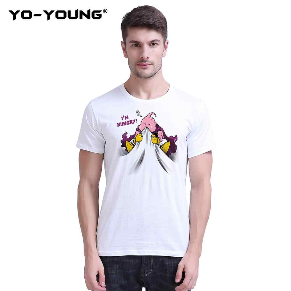 Йо-молодой Жемчуг дракона футболки унисекс Гоку и Вегета Забавные футболки 100% хлопок футболки для мужчин короткий рукав