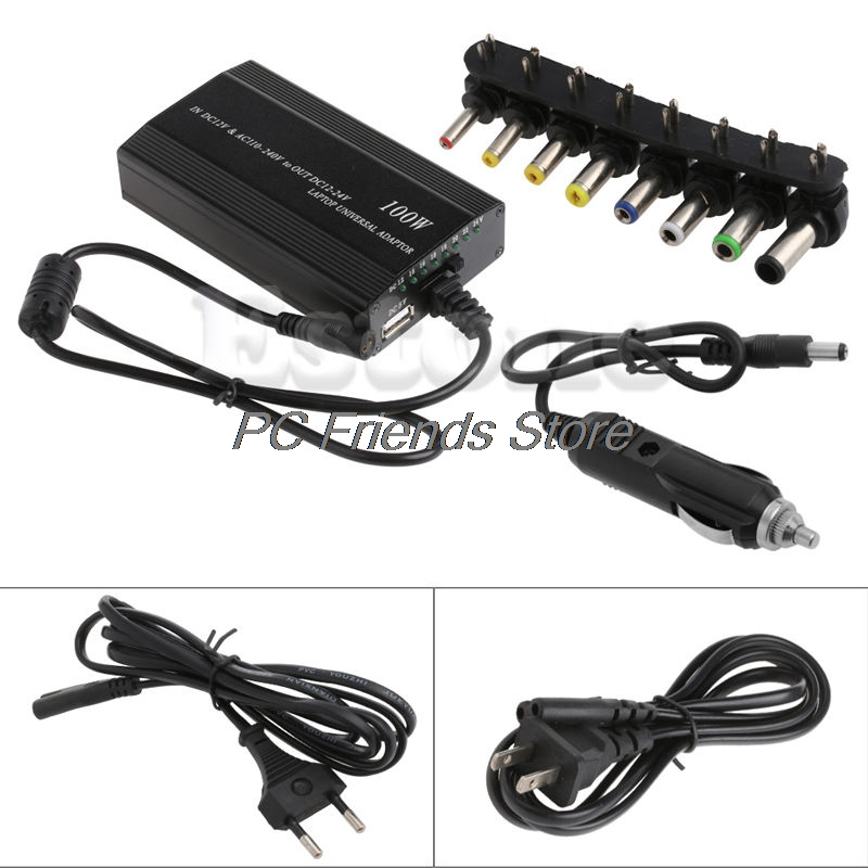 все цены на For Laptop In Car DC Charger Notebook AC Adapter Power Supply 100W Universal-PC Friend онлайн