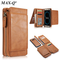 MAX Q For Samsung Galaxy S8 Case Luxury PU leather Flip Phone Wallet Case Cover For Samsung Galaxy S8 plus with Card Slot Holder