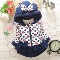 Retail 2016 New Three Styles Girls thick Jacket Baby Boys Girls Cotton Winter Thick Warm Coat Children Lovely Outerwear