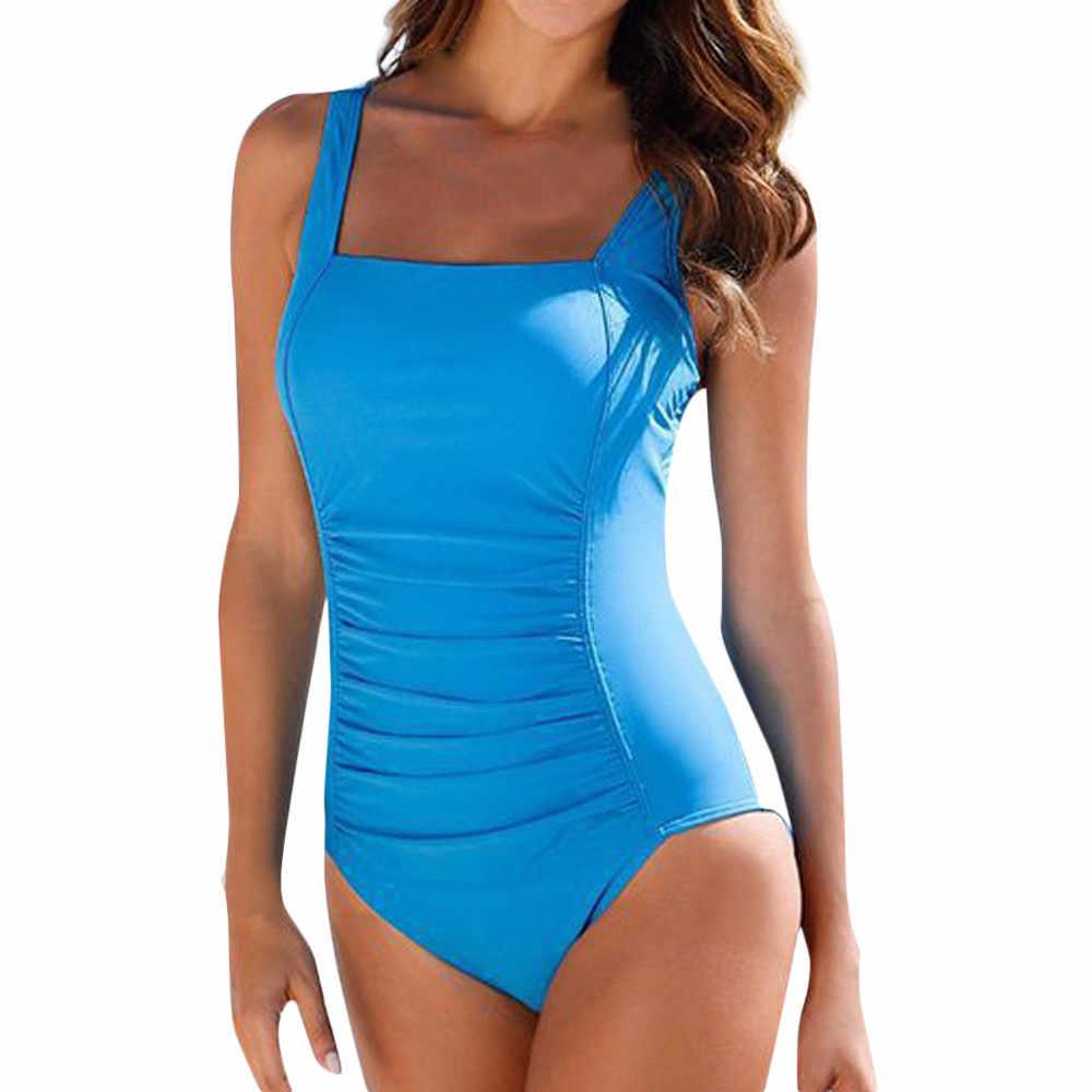 MUQGEW femmes maillots de bain une pièce Push Up rembourré Bikini maillot de bain maillot de bain maillot de bain Monoki 2019 mujer
