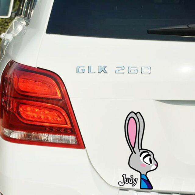 Aliauto zootopia lovely bunny judy funny car sticker decal cover scratches for vw skoda polo golf