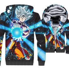 New Arrival Man Hoodies 2018 Winter Thick Jacket For Men Hip Hop Anime Sweatshirts Harajuku Unisex 3D Print Coat Dragon Ball Top hot sale mens clothing 2018 dragon ball 3d hoodies hip hop unisex sweatshirts harajuku men s coat winter thick masculine jackets