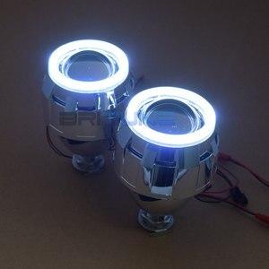 Image 4 - Светодиодный биксеноновый прожектор Angel Devil Eyes H4 H7, линзы для фар COB DRL, линзы Halo Mini 2,5 для автомобильных фар, модификация аксессуаров