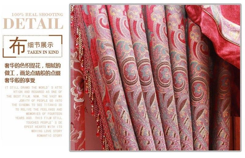 Ultieme oude stad magic power barroco patroon gordijnen rose