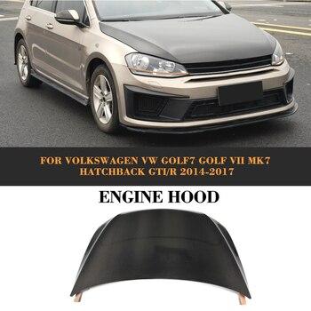 Carbon Fiber front bumper Bonnet Machine hood Cover for Volkswagen VW Golf 7 VII MK7 Hatchback GTI R 2014-2017 Non Standard jc 20130709 1