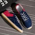 Otoño de la Alta Calidad de Mezclilla Zapatos de Lona Planos de La Manera de Los Hombres Zapatos Casuales Zapatos de Hombre Zapatos de Marca de Moda Envío Gratis