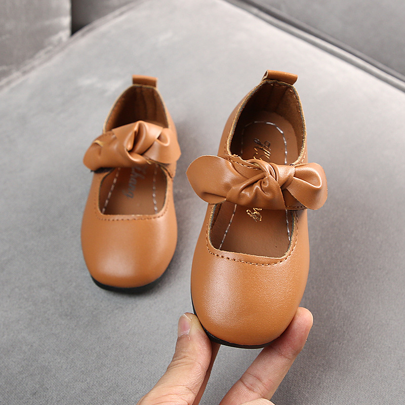 Baby Girls Party Princess Leather Shoes Flat School Shoes Wedding Bow Toddler Kids Dress Shoes 1 2 3 4 5 6 7 8 9 10 11 12 Years