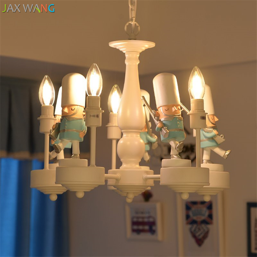 Скандинавский современный британский солдат подвесные светильники светодиодные подвесные лампы детская комната спальня мальчика девочки осветительные приборы для внутреннего использования Декор - 3