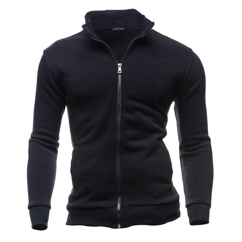 PUYO E-Commerce Co., Ltd. 2017 Stand Collar Men's Hoodie Sring/Autumn Cotton Jacket Coats Mens Sweatshirt Man Zipper Coats Sweatwear