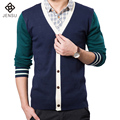 2016 New Men Sweaters High Quality Brands Winter Men's V-Neck Cashmere Winter Cardigans Man Slim Fit M-XXL Free Shipping