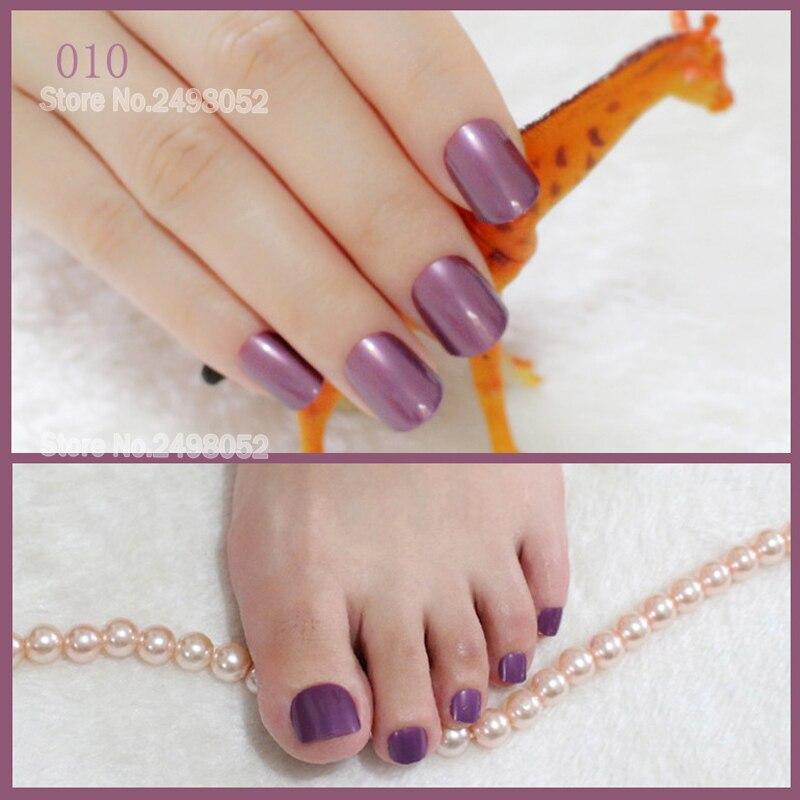 pearl purple false nail art tips