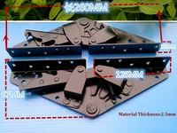 1Pair(2Pcs)/Lot Sofa Bed Bedding Furniture Adjustable 3 Position Angle Big Mechanism Hinge Hardware Ratchet